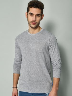 Blue Saint Textured Crew Neck T-shirt