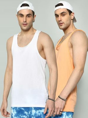 KOOVS Basic Scoop Neck Vest (Pack of 2)