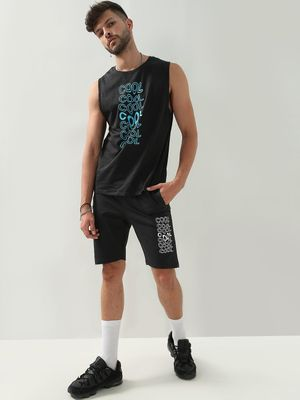 Blue Saint Cool Print Crew Neck Vest