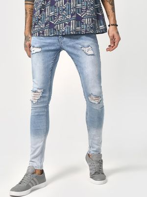 IMPACKT Distressed Light Wash Denim Jeans