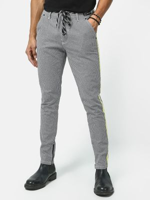Kultprit Check Print Side Tape Trousers