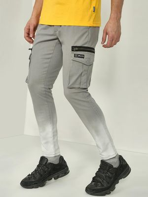 Kultprit Light-Wash Zipper Detail Trousers