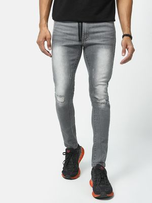 Kultprit Mid-Wash Distressed Jeans