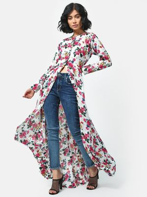 Cation Floral Printed Tunic Top
