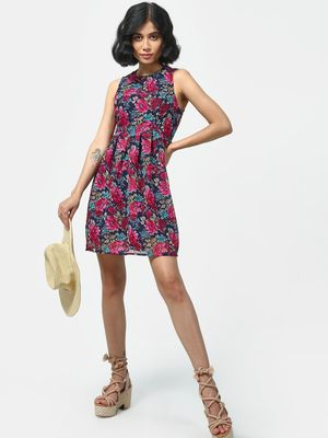 Cation Floral Printed Midi Dress