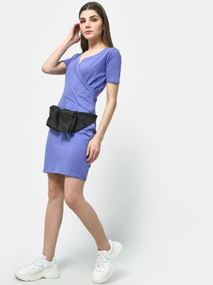 Cation Classic Overlap V-Neck Dress