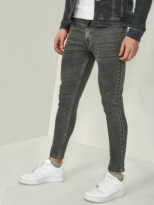 REALM Stone-Wash Mid-Rise Skinny Fit Jeans