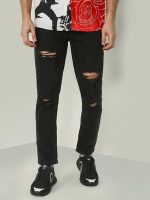 REALM Basic Ripped Denim Slim Fit Jeans