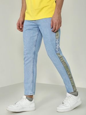 REALM Light Wash Side Tape Slim Fit Jeans