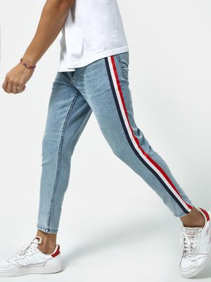 REALM Side Tape Mid Rise Jeans