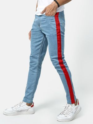 REALM Contrast Side Tape Jeans