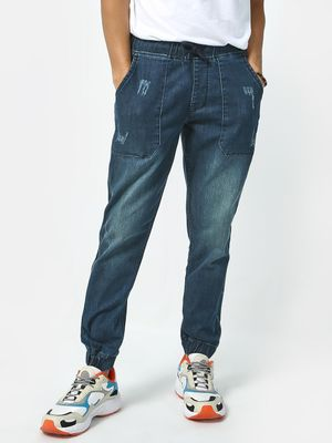 REALM Elasticated Mid Rise Jeans