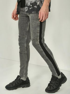REALM Contrast Side Stripe Slim Fit Jeans