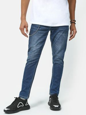 REALM Mid-Wash Distressed Jeans