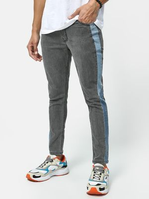 REALM Mid Rise Side Tape Jeans