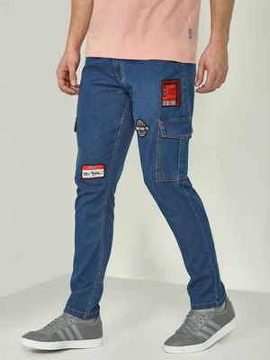 REALM Badge Detail Utility Pocket Jeans