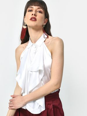 ATTIC SALT Asymmetric Overlay Sleeveless Top