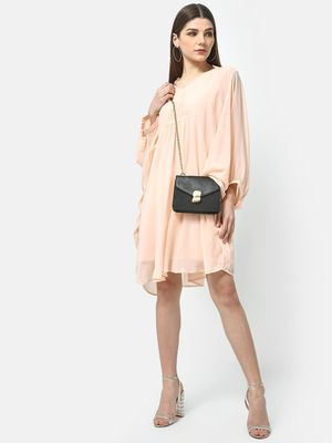 ATTIC SALT V- Neck Cinched Dress