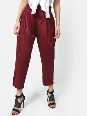 ATTIC SALT Paperbag Cropped Trousers