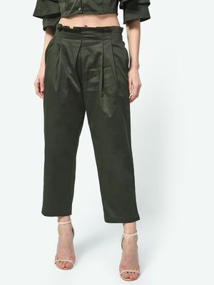 ATTIC SALT Paperbag Waist Cropped Trousers