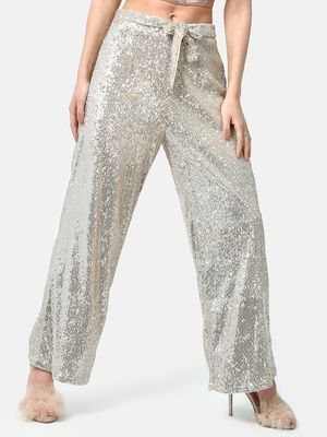 ATTIC SALT Sequin Wide Leg Trousers