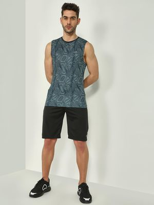 ONE/ZERO BY KOOVS Abstract Illusion Print Training Vest