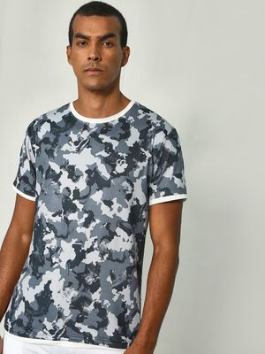 ONE/ZERO BY KOOVS Camo Print Training T-Shirt