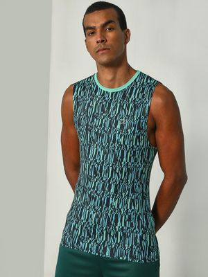ONE/ZERO BY KOOVS Abstract Print Training Vest