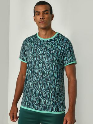 ONE/ZERO BY KOOVS Abstract Print Training T-Shirt