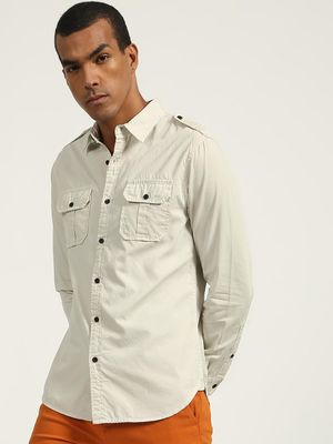 Blue Saint Smart Twin Patch Pocket Shirt