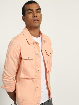 K Denim Utility Pocket Jacket