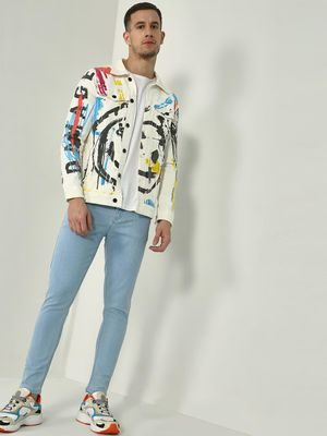 Kultprit Text Splatter Print Jacket