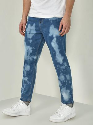 Blue Saint Bleach Dye Regular Fit Jeans