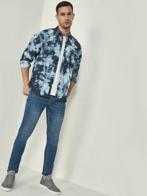 KOOVS Tie-Dye Twin Patch Pocket Shirt