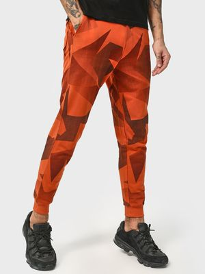 Cult Fiction Elasticated Waist Abstract Print Jog Pants