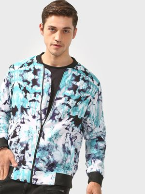 SID & SOM Abstract Print Bomber Jacket