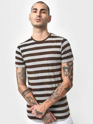 Cult Fiction Yarn Dyed Horizontal Stripe T-Shirt