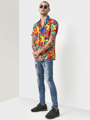 SID & SOM Geometric Print Short Sleeve Shirt