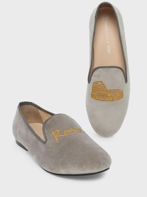 Marcello & Ferri Rome Embroidered Loafers