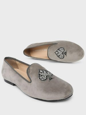 Marcello & Ferri Spade Embroidered Loafers
