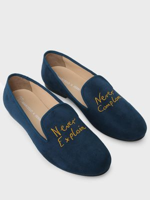 Marcello & Ferri Slogan Embroidered Loafers
