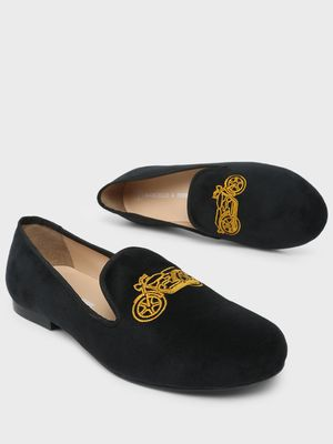 Marcello & Ferri Bike Embroidered Loafers