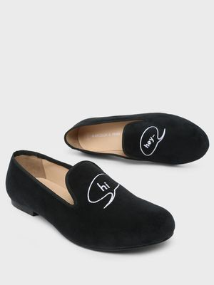 Marcello & Ferri Conversation Embroidered Loafers