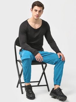 Blue Saint Cuffed Hem Utility Pocket Joggers