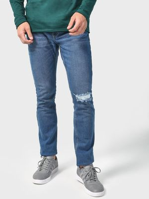 Blue Saint Basic Ripped Denim Jeans
