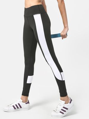 ONE/ZERO BY KOOVS Color Block Active Stretch Leggings