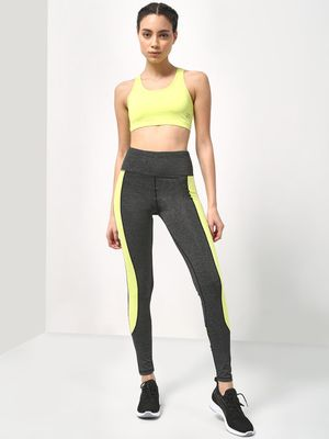 ONE/ZERO BY KOOVS Essential Color Block Active Stretch Leggings