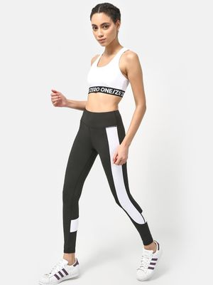 ONE/ZERO BY KOOVS Logo Racer Back Sports Bra