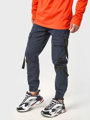 Blue Saint Utility Pocket Strap Jog Pants