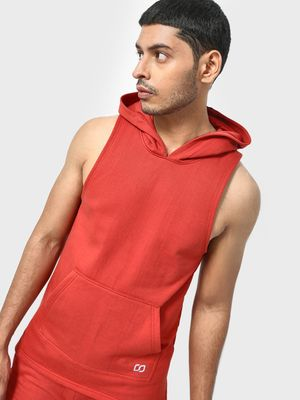 ONE/ZERO BY KOOVS Reflective Logo Longline Training Hoodie
